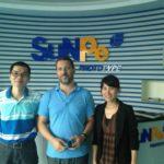 Con Peter ed Angela di SUNPE prototipi