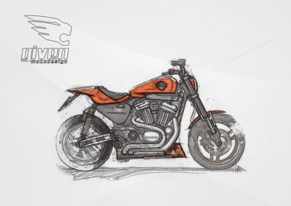 Harley Davidson XR 1200 Custom concept moto custom milano