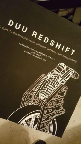 DUU REDSHIFT   -   Der Beitrag der Designer in der Anpassung von Motorrädern