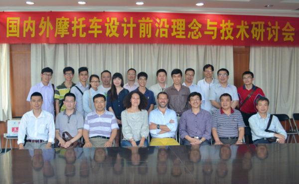 Con il corpo docenti di ingegneria dell'università  di Jangmen