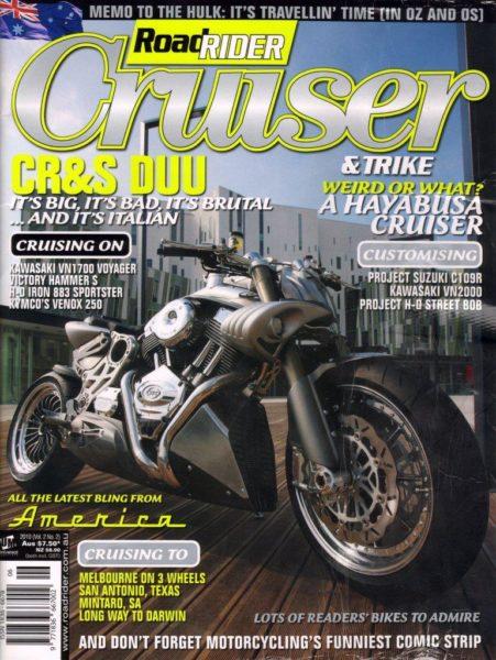 La Duu sulla copertina di Road Rider Cruiser (AUS)