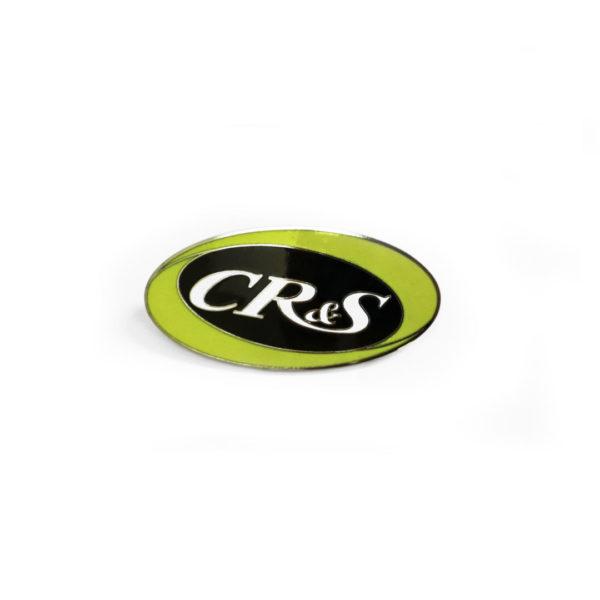 Placca CR&S in ottone laccata 2 colori giallonero originale (2)