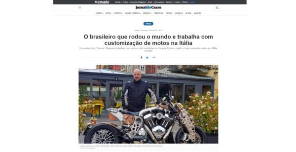 reuters | Der Brasilianer, der die Welt bereist und arbeitet mit der Anpassung von Motorrädern in Italien